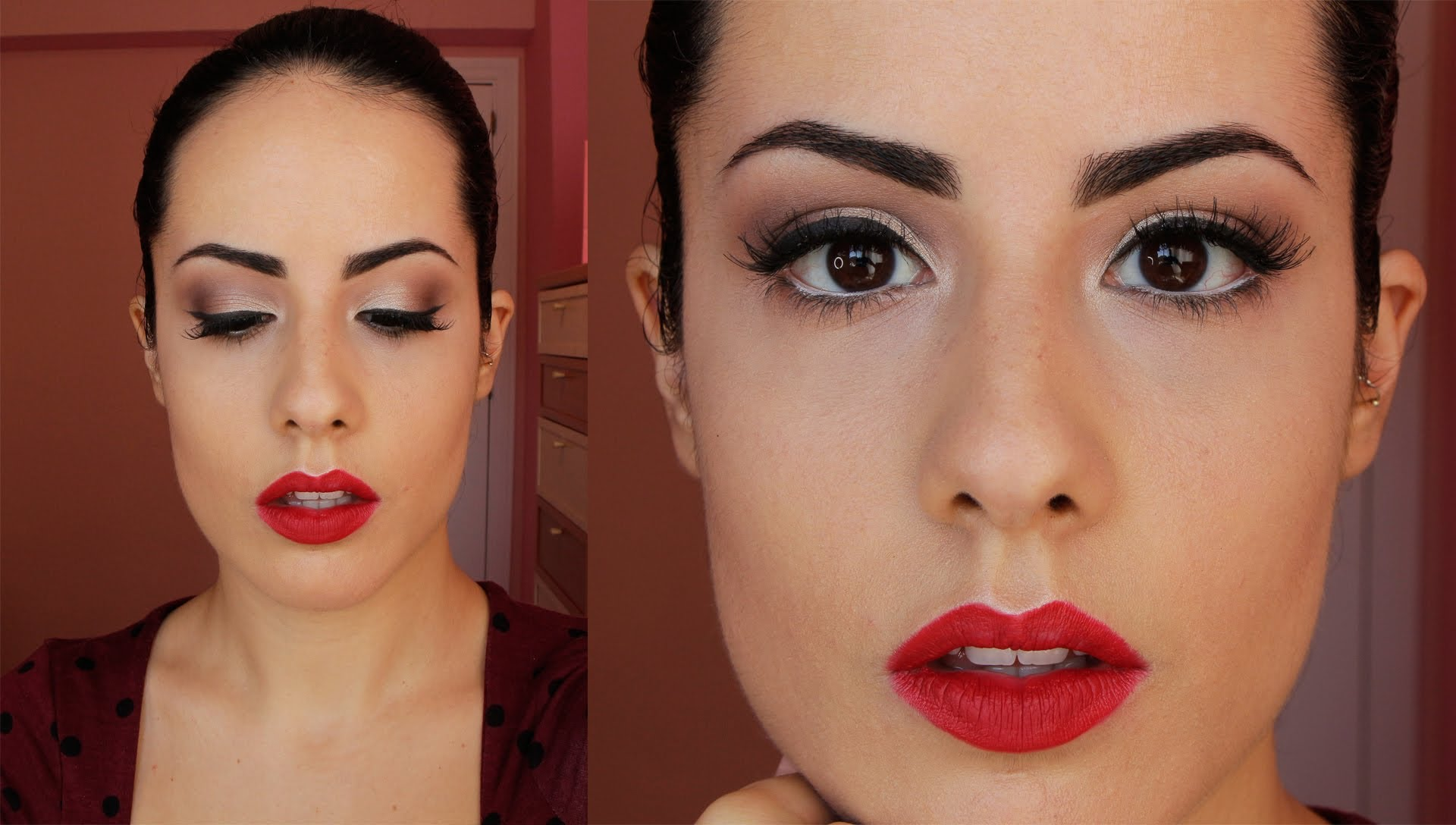 Maquillaje pin up mujer actual - Maquillage pin up ...